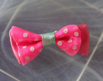 bow tie pink and blue polka dots pattern