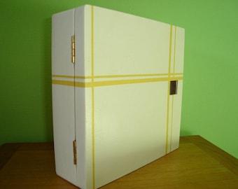 """Scottish"" yellow stripe key box"