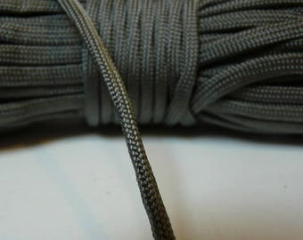 Paracord rope dark 550 gray 4 mm 7 strand by the yard