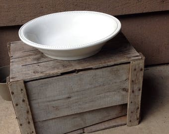 Large White Ironstone Bowl