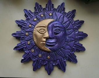 Vintage Sun and Moon sculpture