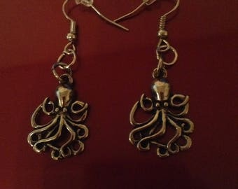 Antique Silver Octopus earrings