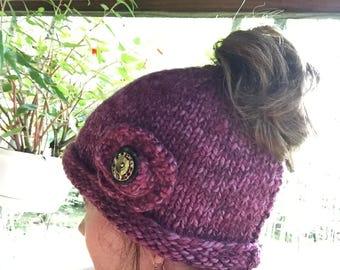 Women's / Teens Ponytail Messy Bun Hat