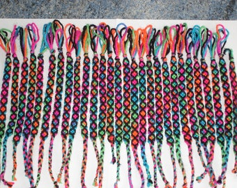 set of 28 Brazilian multicolored handmade bracelets new