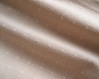 fabric embroidery prince of Wales embroidered ecru beige 150 * 50 cm