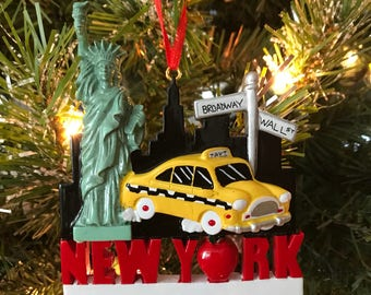 New York Taxi Ornament