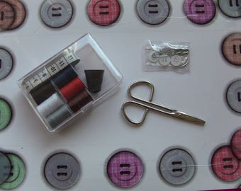 small travel sewing necessary box 8.5 cm / 6 cm height 2 cm