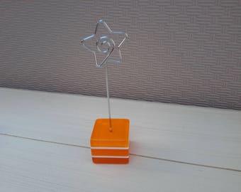 orange decorative cube picture holder