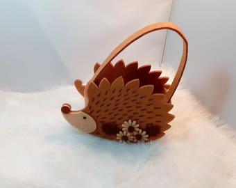 Hedgehog felt child gift bag