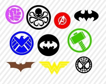 superhero svg, marvel digital file, batman cricut file, silhouette  files, avengers svg cutting files, batman svg file, vector file