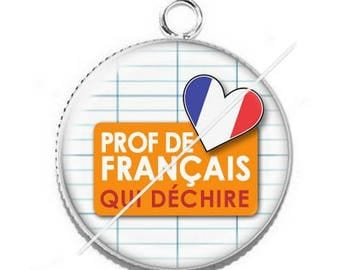 Cabochon resin cameo for french teacher 5