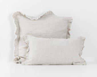 Decorative linen pillow Hope