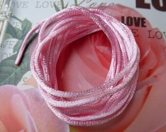pink satin rat tail cord 2 mm cord crafts and jewelry creations
