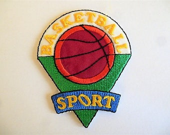 Green and Red sport basketball applique patch, badge for customization clothing and accessories sport 9027.2