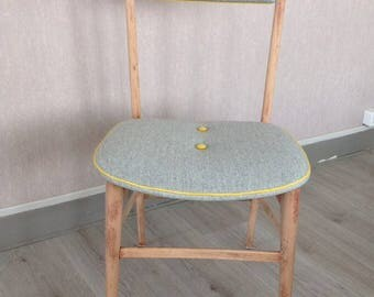 Grey vintage, chic and elegant Scandinavian style Chair