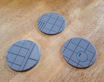 3D Printed 60mm Urban City Street Bases Lot of 3