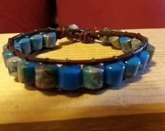 Blue single Wrap bracelet