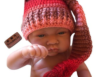 Pixie hat, Elf baby from 0 to 3 months