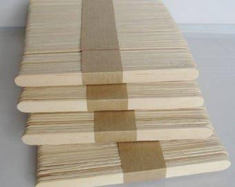200 pieces of natural wood color popsicle sticks, craft sticks, Popsicle sticks, wood, bookmarks, ice cream bar process