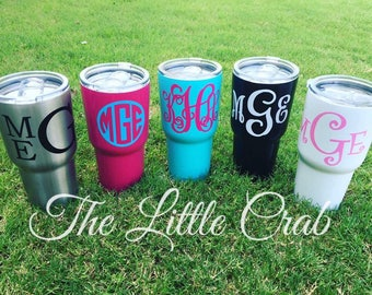 30 Ounce Monogrammed Stainless Steel Tumblers