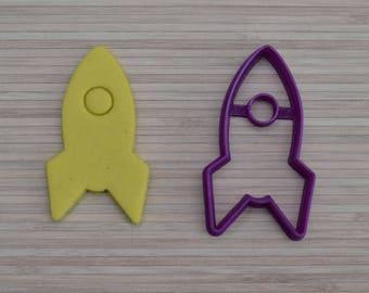 Space rocket cookie cutter