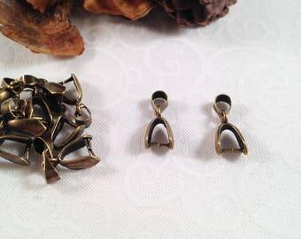 6 bails form clip, bronze, size 17 x 7 mm