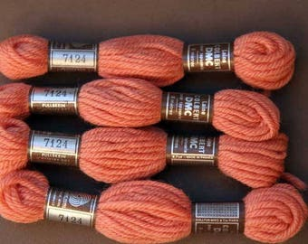 8 m skein 7124, your pink brick, 100% pure wool Colbert
