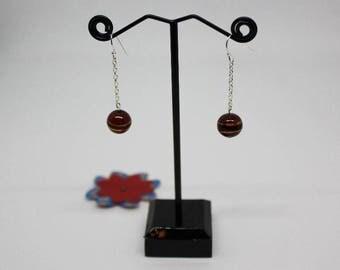 Earrings: lovely glass beads