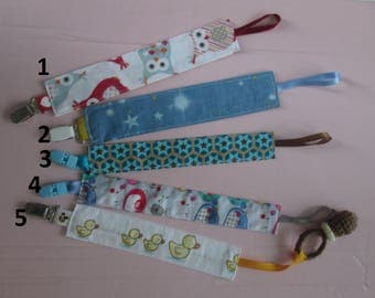 Pacifier clip and fabric for baby