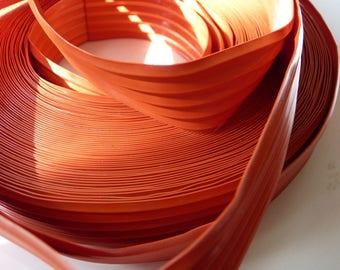 2 m of tape film plastic orange longitudinally wrinkled shape
