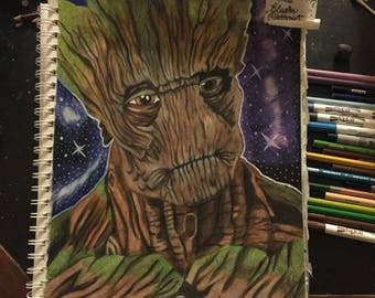 Ent Inspired Groot Prints