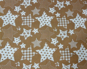 Beige and white fabric with large stars