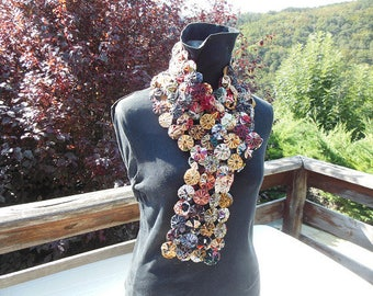 Yoyos scarf, cotton fabrics (E6)