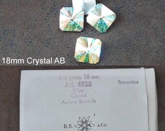 Cabochon 4650 18mm Swarovski Crystal vintage assorted colors