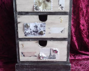 Mini Dresser storage for three drawers