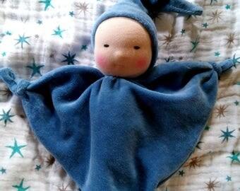 Blanket style blue waldorf