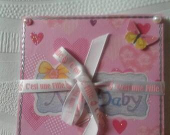 Mini pink accordion photo album