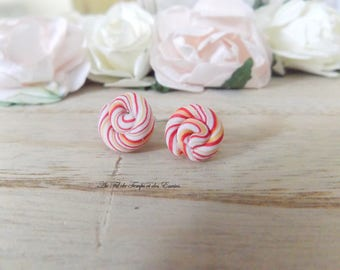 Stud Earrings Lollipops of Christmas