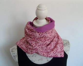 Soft and warm scarf very soft cotton jersey and liberty