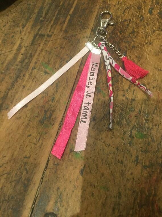 Bag/key message jewelry