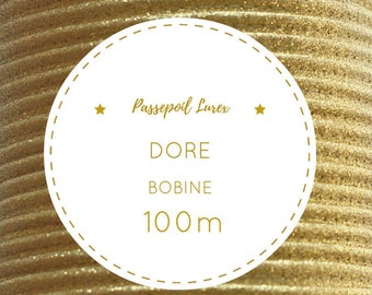 Reel 100 m-Golden metallic lurex piping