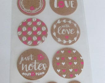 Sticker adhesive love theme