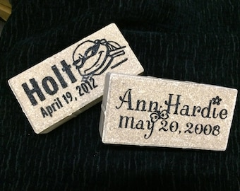 Custom Engraved Memory Marker/4x8 Personalized Brick
