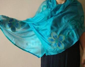 Pure Silk and Felt shawl