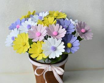 Felt flowers bouquet Kit