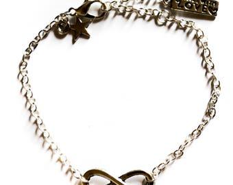 """Infinity Silver"" toned bracelet"