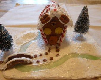 Christmas ornament - Home gingerbread man (fimo)