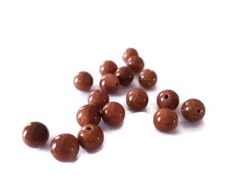 Stone beads sand sparkling 6 mm