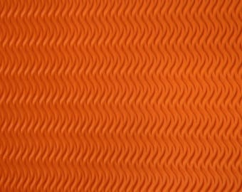 Sheets of foam corrugated effect 21 x 27.5 cm orange: set of 5