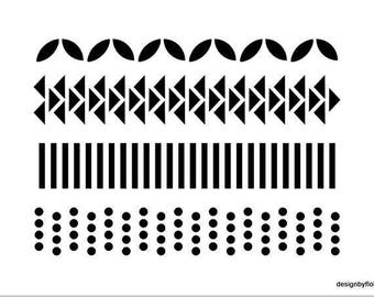 MASK STENCIL graphic for your scrapbooking projects